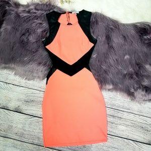 Charlotte Russe neon orange dress